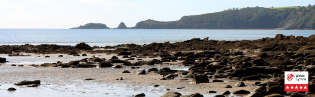 Monkstone Point viewed from Wiseman's Beach near Harvest Mill