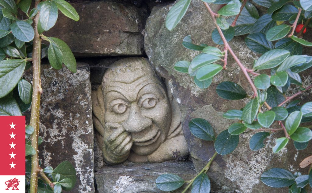 Fairview - The Bogeyman - hiding in one of the garden walls