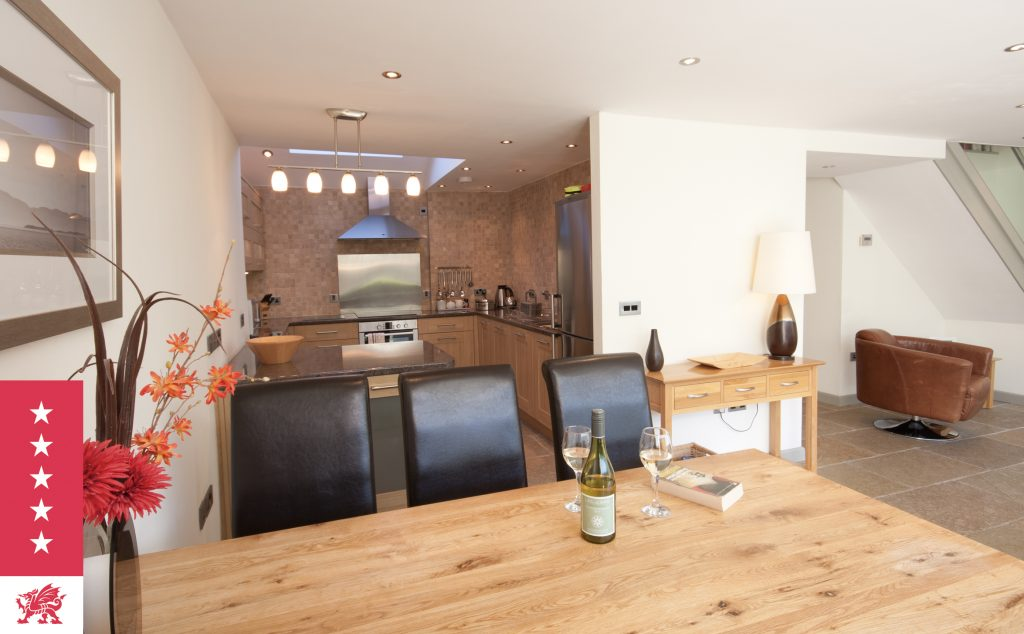 Dining & Kitchen area at Fairview - luxury 5 star cottage near Saundersfoot