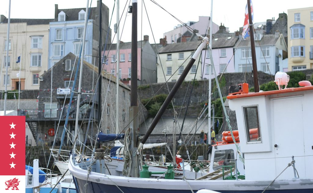 View of Tenby from the harbour